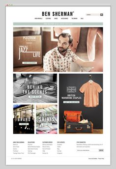 Ben Sherman #layout #website #web #web design #store