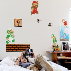 Super Mario Bros Nintendo Wall Graphics #tech #gadget #ideas #gift #cool