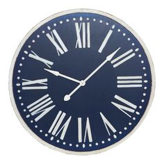 Treloar Wood Navy Wall Clock 93cm