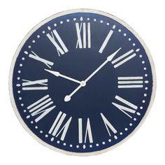 Treloar Wood Navy Wall Clock 93cm