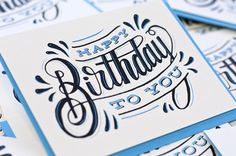 Awesome Design Inspiration #calligraphy #lettering #script #card #print #birthday #type #typography