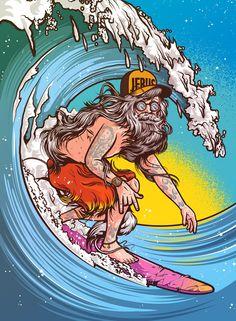 JEBUS Riding Giantsby Musketon #surf #jebus