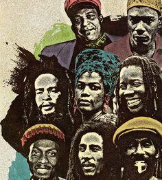Legends of Reggae Poster on Behance #halftone