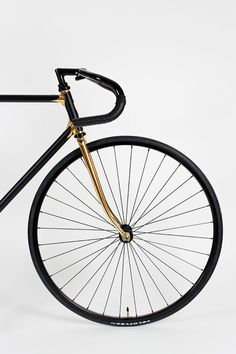 Heritage Paris 007 #black #bike #fixed gear #class #bicycle #gold #fork