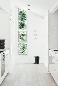 #Verticalwindow in gray #brickwall. #FredensborgHouse by #NormArchitects.