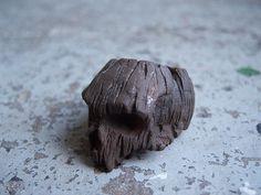 Driftwood skull   Cotton Duck