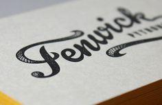 Fenwick Pythons branding #typography #branding #identity