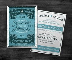 • TIE THAT BINDS : CURTIS JINKINS #card #wedding #invite