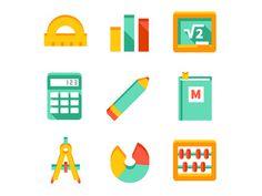 Math icon #book #line #pencil #geometry #math #circle #board #graph #calculator #compass #algebra #scores