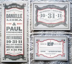 Letterpress wedding invitation #typography #letterpress #wedding invite