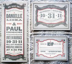 Letterpress wedding invitation #wedding #invite #letterpress #typography