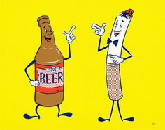 ... beer and cigarettes! | Flickr Photo Sharing! #illustration #beer #cigarettes