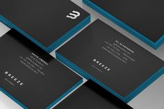 Breeze Records #logo #branding #collateral #business card