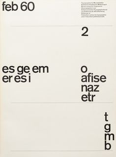 Cover from 1960 Typographische Monatsblätter issue 2