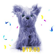 Stuffed #Toy #Puppy #Cleanable #Grooming #Pets #- #PURPLE