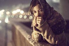 500px / Photo #girl #photo #picture #cold #photograph #bokeh #portrait #female #winter