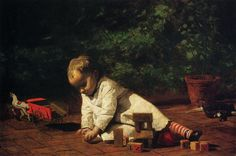 "Thomas Eakins and his painting ""Baby at Play"" #oil #painting #paintings"