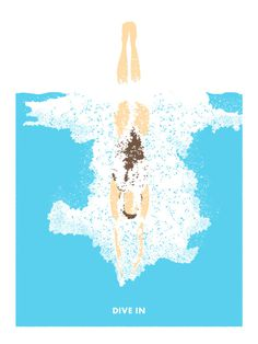 Jonny Ashcroft Posters #swimming #water #ilustration #brush
