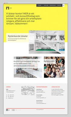 MER #website #layout #design #web