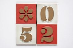 Practically Modern   Design That Works - House Numbers from Heath Ceramics #fonts #tiles #house #ceramics #heath #neutra #numbers #eames