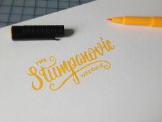 Stumpanovic Sketch #script #handlettering