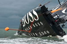 keel walk hugo boss suit boat sailing standing on rutter #sailing #suit #impossible