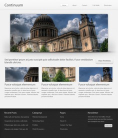 Continuum website template (psd) Free Psd. See more inspiration related to Design, Template, Website, Web design, Ui, Psd, Website template, Blog, Ui design and Vertical on Freepik.