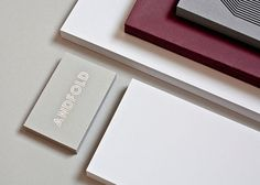 design work life » Andfold Studio Identity #business #card #identity #studio #andfold