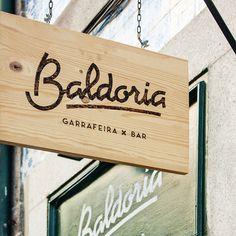 Baldoria Bar branding #signage #typography