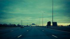 238. Sunset on the M25 | LDN.365 | Yin & Yang #blue #sunset #road #cars #m25 #motorway #gree