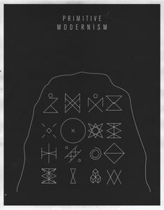 super cool posters. | Design For Mankind #primitive #modern