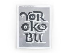 Yorokobu Magazine Cover - Joan Quirós #calligraphy #magazine #cover