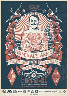 GIG Posters - Yeaaah! Studio #illustration #poster #sailor