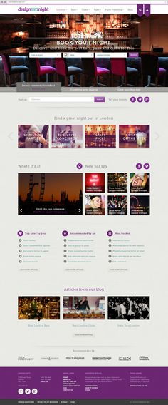 Design My Night Web design