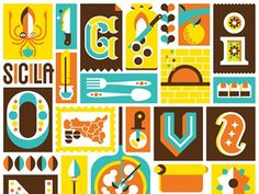 Schermata 2013 06 07 a 00.53.01 #letters #food #chocolate #illustration #type #italy