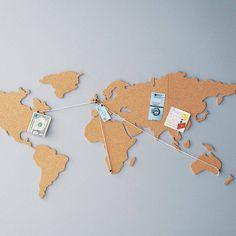 Corkboard Map #tech #flow #gadget #gift #ideas #cool