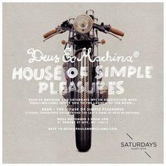 Deus Ex Machina - Saturdays Surf NYC #saturdays #surf #machina #flyer #ex #deus #poster #nyc #anchor #division #motorcycle
