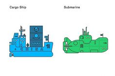 Changing Lines's Photos - Wall Photos #lines #boats #draw #illustration #blue #changing #green