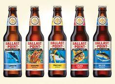 Ballast Point Bottles #beer #bottle #label