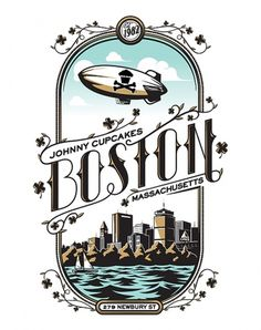 BostonSkyline - Johnny Cupcakes #illustration #boston #typography