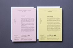 Exhibition invitation cards Design by Carte Blanche Design Studio #color #paper #invitation
