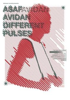 Asaf Avidan – Different Pulses Screen Printed poster