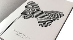 Fedrigoni Metallic Papers | Thomas Manss & Company #maze #design #graphic #book #butterfly #samples #illustration #layout #paper #metallic #foil #typography