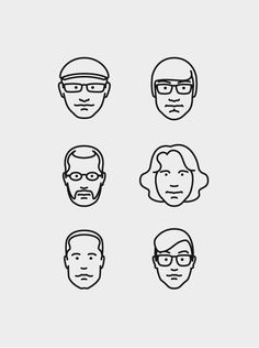 mkn design Michael Nÿkamp #line #faces #illustrations #charactertures #facebook #art #drawing #friends