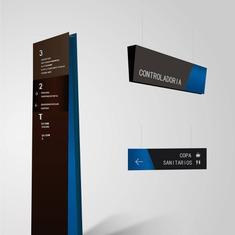 mall wayfinding | Signage | Sign Design | Wayfinding | Wayfinding signage | Signage design | Wayfinding Design | Simplicity 蓝色商场导视牌