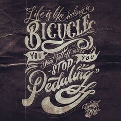 This is my collaboration for sketchandbike #type #handlettering #typography
