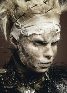 Amazing Anna Gushina in unique gothic art fashion session #fashion #photography #gothic #art