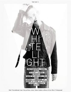 White Light | Volt Café | by Volt Magazine #white #design #graphic #volt #black #photography #art #and #fashion #layout #magazine #typography