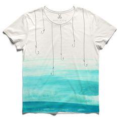 #calamus #offwhite #tee #tshirt #fishingrod #sea #hook #fishing #turqouse #summer