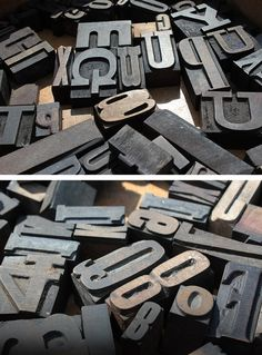 Wooden Letterpress blocks at the York Race Course car boot sale earlier this year.